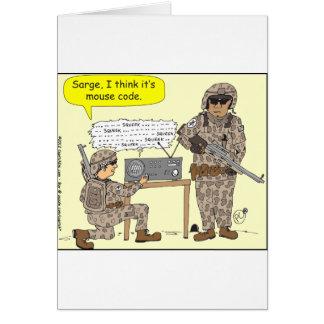 299 mouse code cartoon greeting card