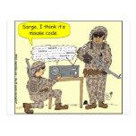 299 mouse code cartoon postcard