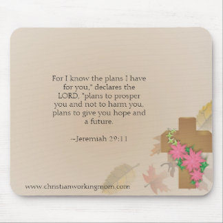 29:11 cristiano Mousepad de Jeremiah de la mamá de Tapetes De Ratón