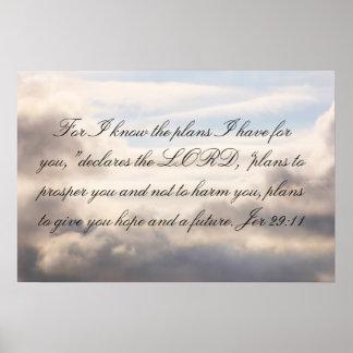 29:11 de Jer: Para mí sé los planes Póster