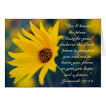 29:11 de Jeremiah del verso de la biblia, Tarjeta De Felicitación