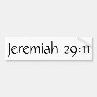 29:11 de Jeremiah Pegatina Para Auto