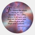 29:11 de Jeremiah Pegatina Redonda