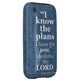 29:11 de Jeremiah sé el verso de la biblia de los  Tough iPhone 3 Cobertura