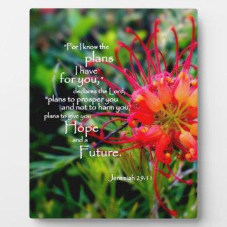 29:11 de Jeremiah una esperanza y un futuro Placa De Madera
