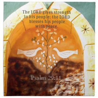 29 11 del salmo que eleva verso de la BIBLIA Servilleta Imprimida