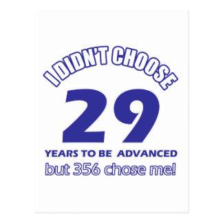 29 años de adelanto postal