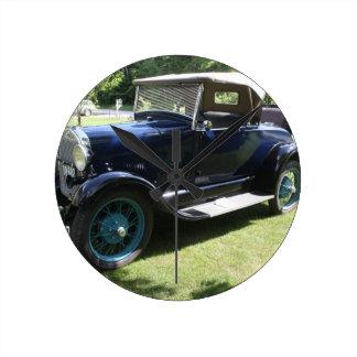 29 Antique Auto Round Clock