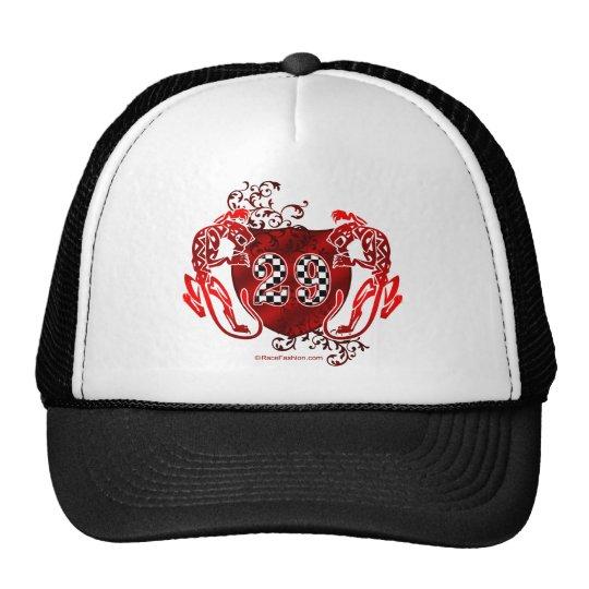 29 auto racing number tigers trucker hat