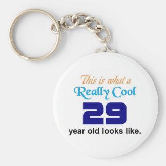 29 Birthday Basic Round Button Keychain