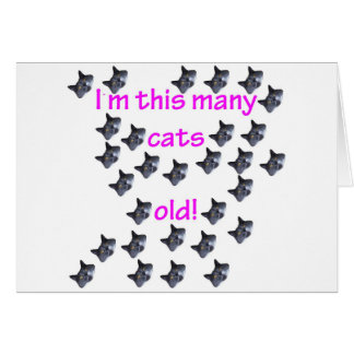 29 Cat Heads Old Greeting Cards