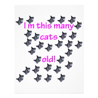 29 Cat Heads Old Personalized Letterhead