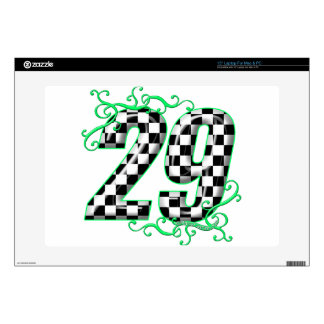 29 checkers flag number decal for laptop