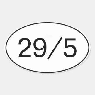 29 en 5 pegatinas colcomanias de oval personalizadas