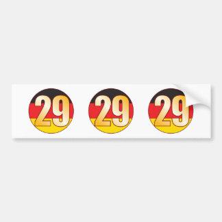 29 GERMANY Gold Bumper Sticker