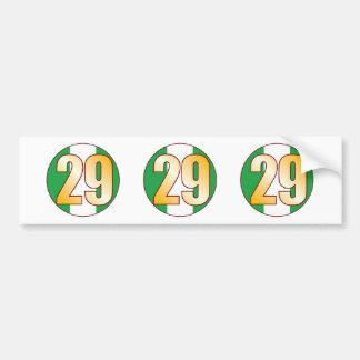 29 NIGERIA Gold Bumper Sticker