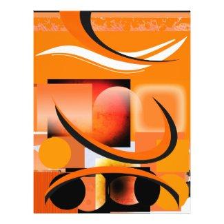 29 Orange Element Pads Template Event Flyer