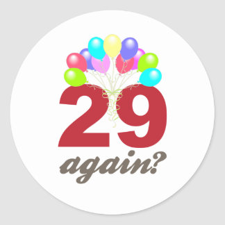 ¿29 otra vez pegatinas redondas