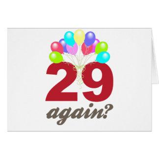 ¿29 otra vez? tarjeta de felicitación
