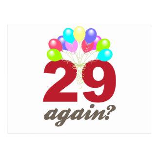 ¿29 otra vez? tarjetas postales