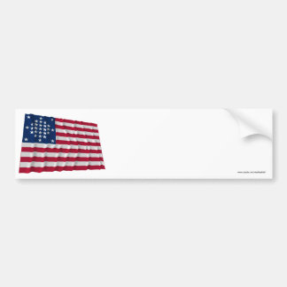 29-star flag, Diamond pattern, outliers Bumper Sticker