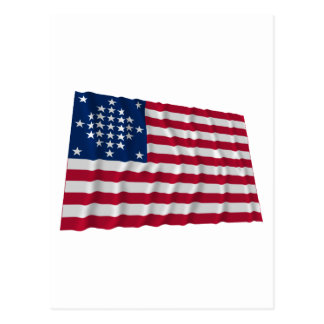 29-star flag, Diamond pattern, outliers Postcard