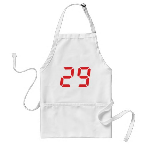 29 veintinueve números digitales del despertador d delantal