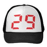 29 veintinueve números digitales del despertador d gorros bordados