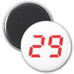 29 veintinueve números digitales del despertador d imanes