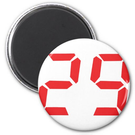 29 veintinueve números digitales del despertador d imán redondo 5 cm