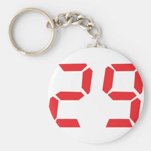 29 veintinueve números digitales del despertador d llavero redondo tipo pin