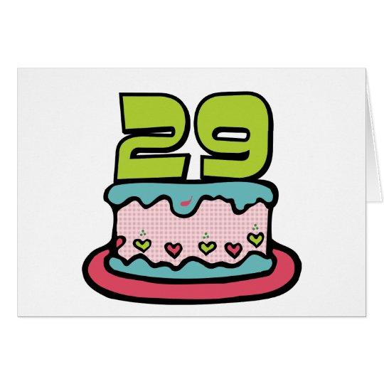 29 Year Old Birthday Cake Card