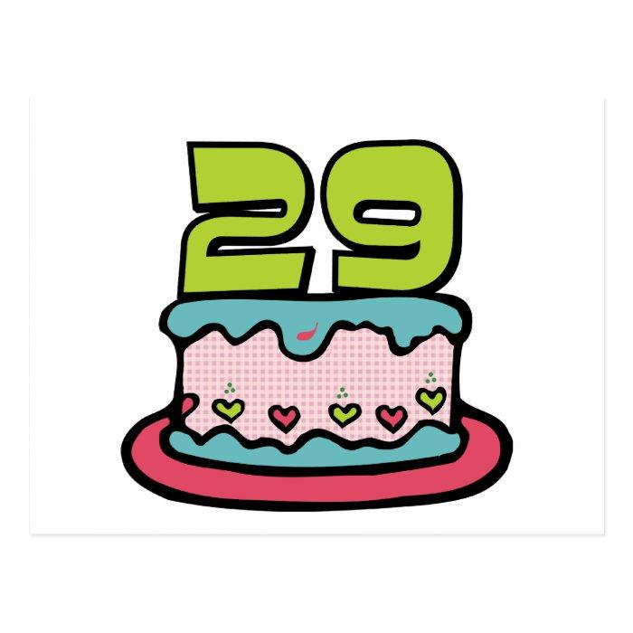 29 Year Old Birthday Cake Postcard