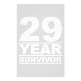 29 year survivor stationery