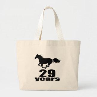 29 Years Birthday Designs Large Tote Bag