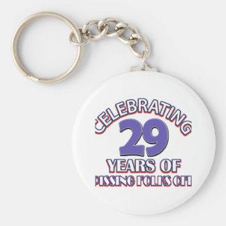 29 years Old birthday designs Key Chain