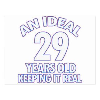 29 YEARS OLD BIRTHDAY DESIGNS POSTCARD