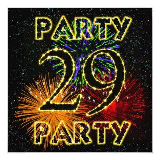 29na invitación de la fiesta de cumpleaños con los