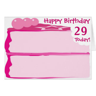 29no cumpleaños feliz tarjeta de felicitación