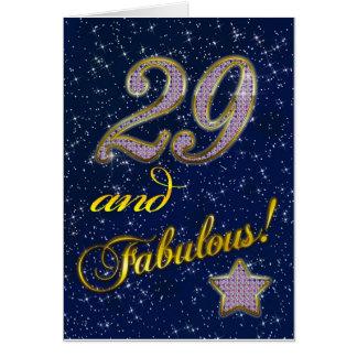 29no cumpleaños para alguien fabuloso tarjeta de felicitación