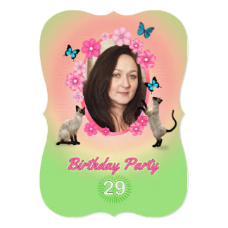 29no Invitación de la fiesta de cumpleaños