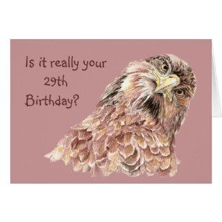 29no Pájaro curioso lindo divertido o que insulta  Tarjeta De Felicitación