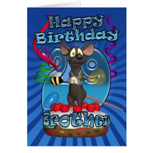 29no Tarjeta de cumpleaños para Brother - ratón en