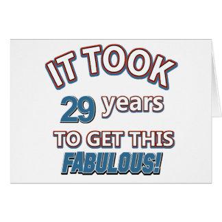 29nos diseños del cumpleaños del año tarjeta de felicitación