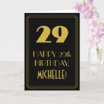 "[ Thumbnail: 29th Birthday ~ Art Deco Inspired Look ""29"" & Name Card ]"