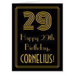 "[ Thumbnail: 29th Birthday: Art Deco Inspired Look ""29"" + Name Card ]"