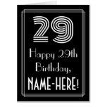 "[ Thumbnail: 29th Birthday — Art Deco Inspired Look ""29"" + Name Card ]"
