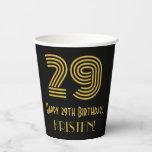 "[ Thumbnail: 29th Birthday: Art Deco Inspired Look ""29"" & Name ]"