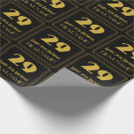 """[ Thumbnail: 29th Birthday – Art Deco Inspired Look """"29"""" & Name Wrapping Paper ]"""