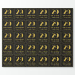 """[ Thumbnail: 29th Birthday ~ Art Deco Inspired Look """"29"""", Name Wrapping Paper ]"""